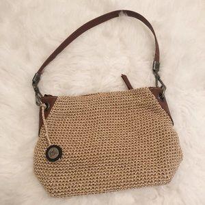 The Sak Crochet and Leather Shoulder Bag